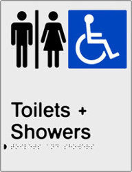 Airlock for Male, Female & Accessible Toilets & Shower Braille & tactile sign (PB-SNAAUATAS