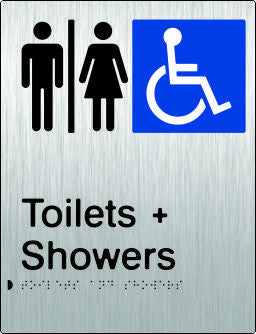 Airlock for Male, Female & Accessible Toilets & Shower Braille & tactile sign (PB-SSAUATAS