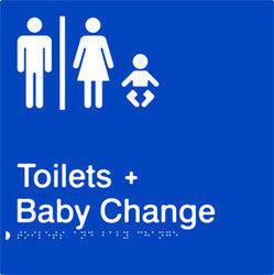 Airlock male and female toilets with baby change (PB-AUTABC)