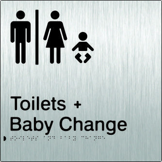 Airlock for Male & Female Toilets & Baby Change Braille & tactile sign (PB-SSAUTABC)