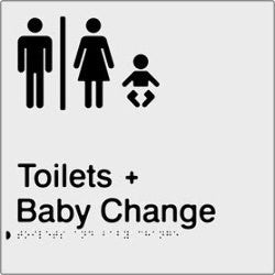 Airlock for Male & Female Toilets & Baby Change Braille & tactile sign (PBS-AUTABC