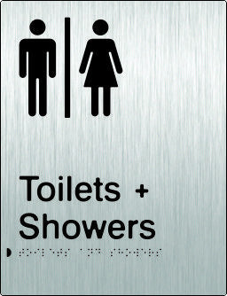 Airlock for Male & Female Toilets & Shower Braille & tactile sign (PB-SSAUTAS)