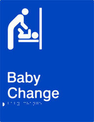 Baby Change Braille & tactile sign (PB-BC)