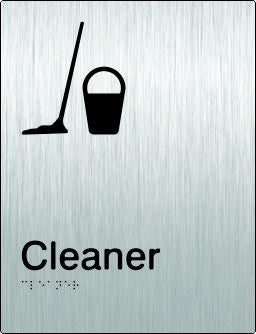 Cleaners Room Braille & tactile sign (PB-SSCR)