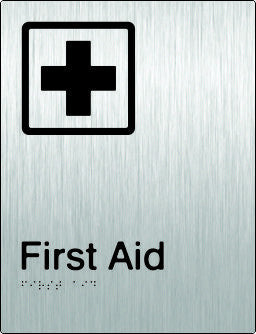 First Aid Braille & tactile sign (PB-SSFaid)