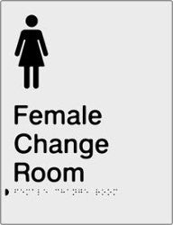 Female Change Room Braille & tactile sign (PBS-FCR)