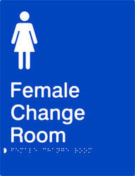 Female Change Room Braille & tactile sign (PB-FCR)