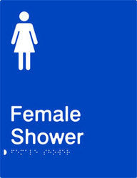 Female Shower Braille & tactile sign (PB-FS)