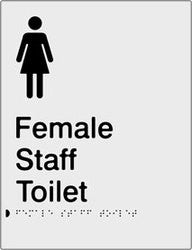 Female Staff Toilet Braille & tactile sign (PB-SNAFsT)