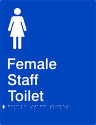 Female Staff Toilet Braille & tactile sign (PB-FsT)