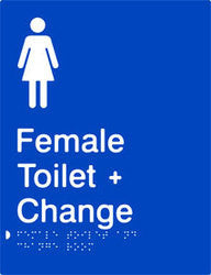 Female Toilet & Change Room Braille & tactile sign (PB-FTACR)