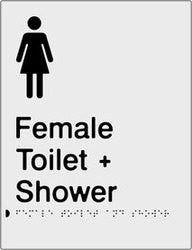 Female Toilet & Shower Braille & tactile sign (PB-SNAFTAS)