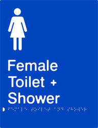 Female Toilet & Shower Braille & tactile sign (PB-FTAS)