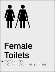 Female & Female Ambulant Toilets Braille & tactile sign (PB-SNAFTFambT)