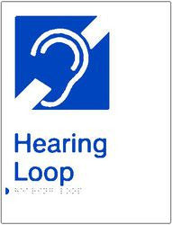 Hearing Loop Braille & tactile sign (PBW-HL)