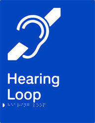 Hearing Loop Braille & tactile sign (PB-HL)