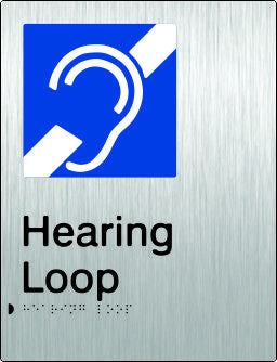 Hearing Loop Braille & tactile sign (PB-SSHL)