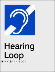 Hearing Loop Braille & tactile sign (PB-SNAHL)