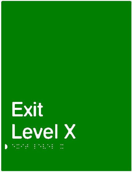 Green Exit Braille & tactile sign (PB-Exit)