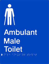 Male Ambulant Toilet Braille & tactile sign (PB-MambT)