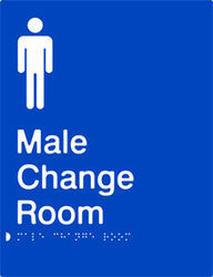 Male Change Room Braille & tactile sign (PB-MCR)