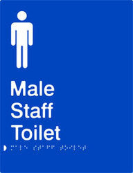 Male Staff Toilet Braille & tactile sign (PB-MsT)