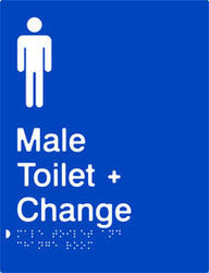 Male Toilet & Change Room Braille & tactile sign (PB-MTACR)