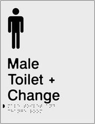 Male Toilet & Change Room Braille & tactile sign (PBS-MTACR)