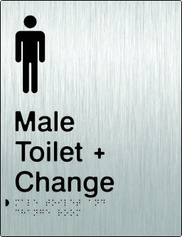 Male Toilet & Change Room Braille & tactile sign (PB-SSMTACR)