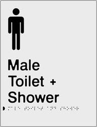 Male Toilet & Shower Braille & tactile sign (PB-SNAMTAS)