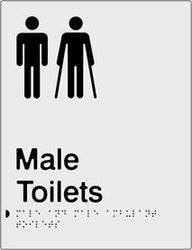 Male & Male Ambulant Toilets Braille & tactile sign (PBS-MTMambT)