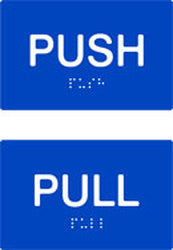 Push / Pull Braille & tactile signs (PB-PPH)