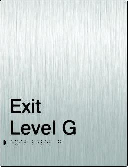 Stainless Steel Exit Signs - Exit Level (PB-SSExit)