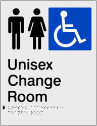 Unisex Accessible Change Room Braille & tactile sign (PBS-UACR)