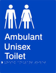 Unisex Ambulant Toilet Braille & tactile sign (PB-UambT)