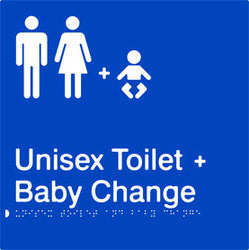 Unisex Toilet & Baby Change Braille & tactile sign (PB-UTABC)