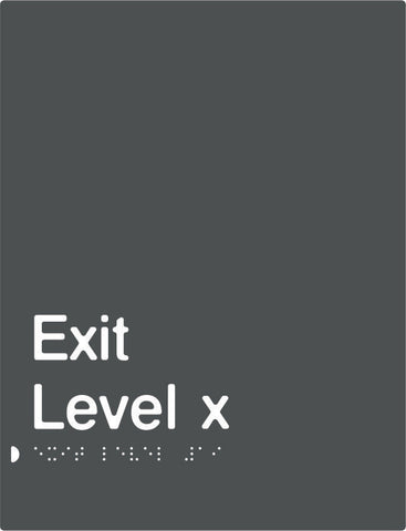 Charcoal Grey Exit Signs (PBAGy-Exit)