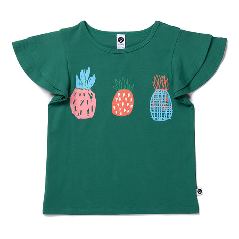 Pineapple Trio Tee - Vivid Green