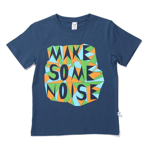 Littlehorn Make Some Noise Tee - Navy