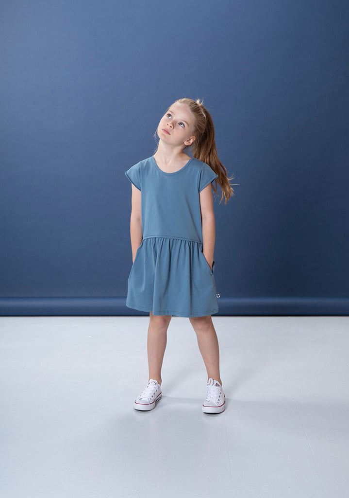 Dulcie Dress - Mid Blue