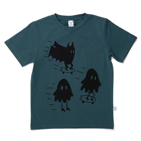 Littlehorn Cruising Monsters Tee - Dark Green