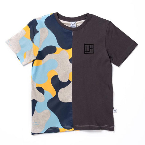 Littlehorn Camo Cut Tee - Light Grey/Oil