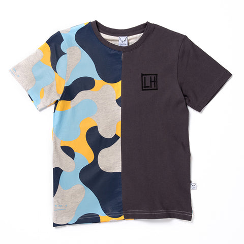 Camo Cut Tee - Light Grey/Oil