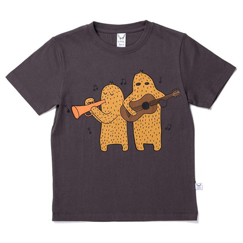 Littlehorn Musical Monsters Tee - Oil