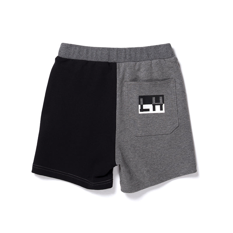 Branded Sweat Short - Charcoal/Black