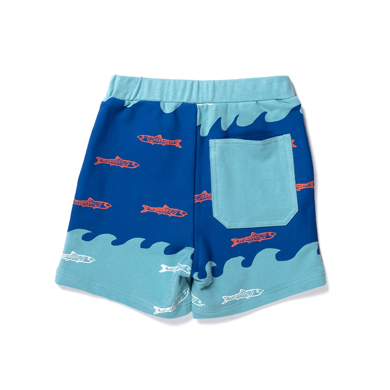 Aquarium Sweat Short - Teal