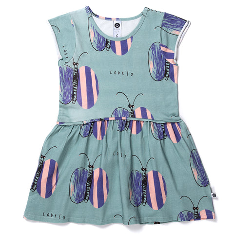 Lovely Butterfly Dress - Sage