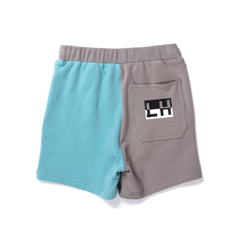 Branded Sweat Short - Slate/Aqua