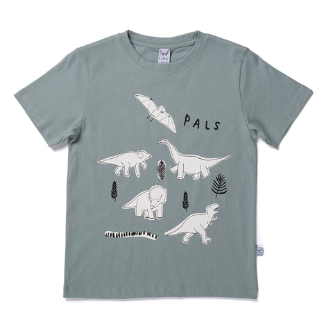 Dinosaur Pals Tee - Sea Green