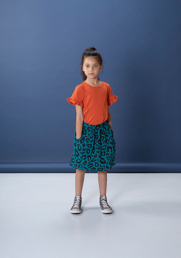Safari Woven Skirt - Teal